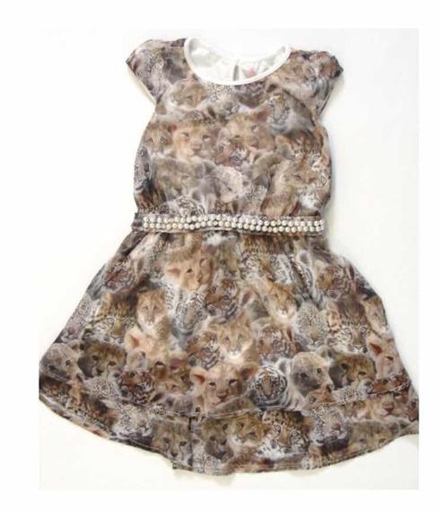 Vestido Chiffon Filhotes - Pituchinhus