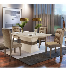 Sala Jantar 4 Cadeiras Luísa Siena Móveis Animalle I