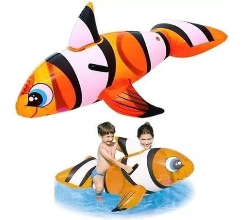 Pez Payaso Inflable Gigante Bestway Nemo 41088 Cuotas S Int!