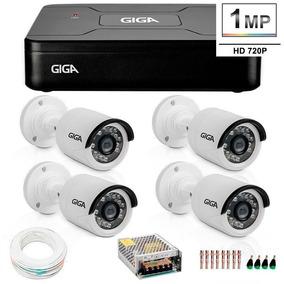 Kit Dvr + Cameras + Hd + Cabo + Conectores + Fonte