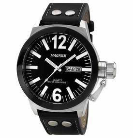 Relógio Quartz Preto Masculino Analógico Magnum Soviet