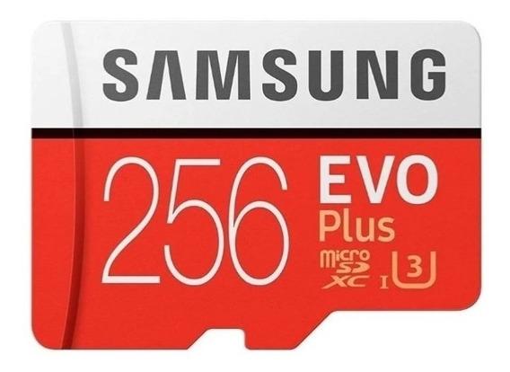 Cartão De Memória Samsung 256gb Evo Plus Adapt 100% Original