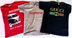 Kit 3 Camisetas Tamanho G, Supreme, Gucci