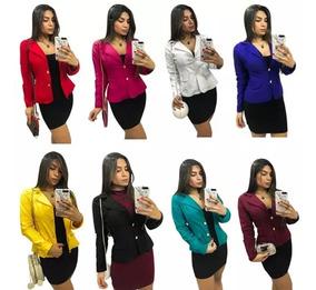 Blazer Social Casco Feminino Lindas Cores A Pronta Entrega