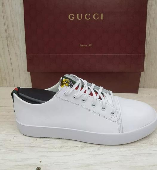 Tenis Gucci Masculino Couro Casual Social Sport Classico Top