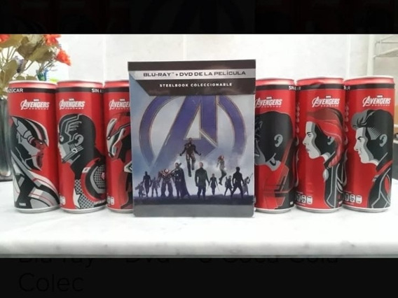 Avengers Endgame Steelbook Blu-ray + Dvd + Coleccion Coca Co