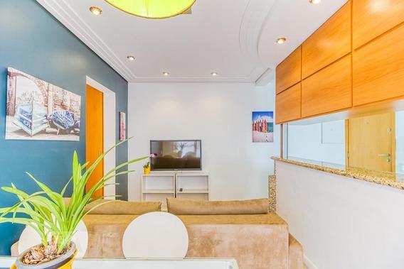 Apartamento No 17º Andar Mobiliado Com 1 Dormitório E 2 Garagens - Id: 892988338 - 288338