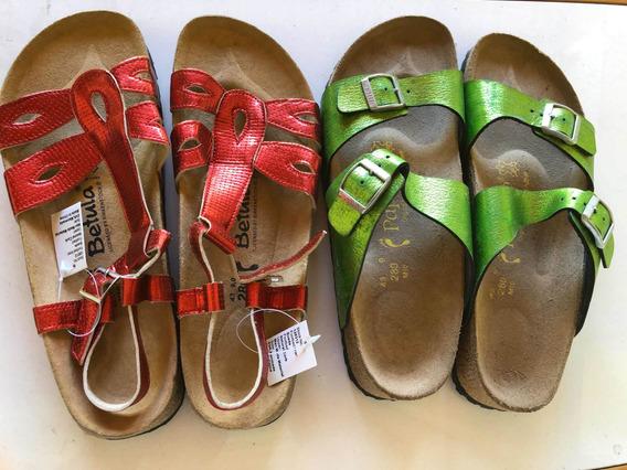 Sandalias Femininas 42 Birkenstock 2 Por 200