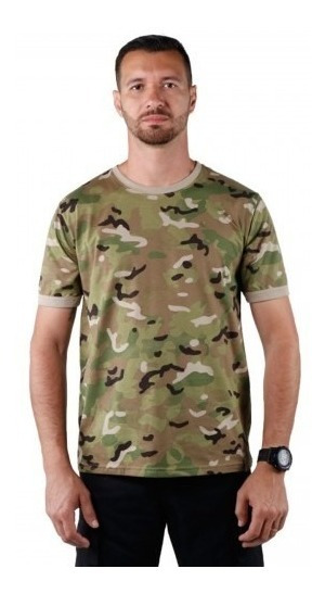 Camiseta Soldier Camuflada Multicam Bélica Airsoft Paintball