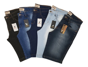 Kit Com 5 Bermudas Jeans Masculinas Slim - Preço De Atacado