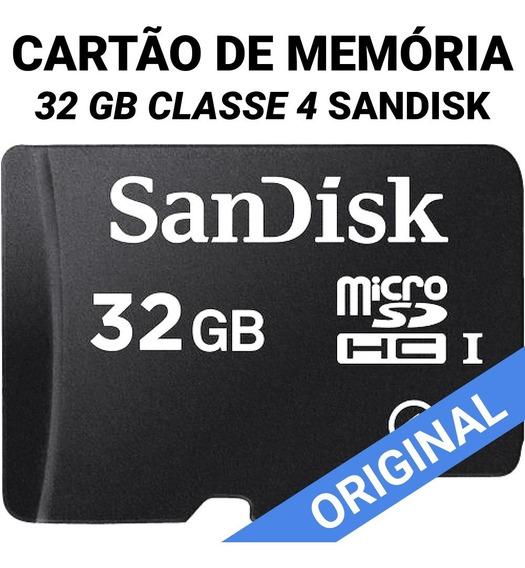 Cartão De Memória Micro Sd 32 Gb Classe 4 Sandisk