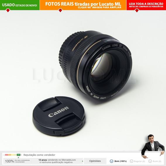 Lente Impecável Canon Ef 50mm F/1.4 Usm Prime | 1b