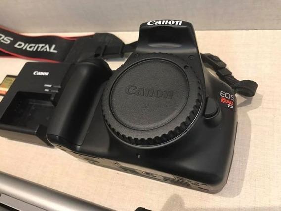 Camera Profissional Canon Eos T3 + Acessórios E Lente Barato