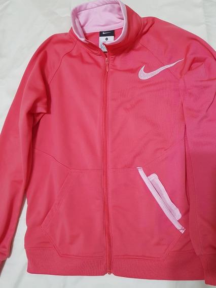Casaco Nike Infantil Rosa Original Tam 10/12 Semi Novo