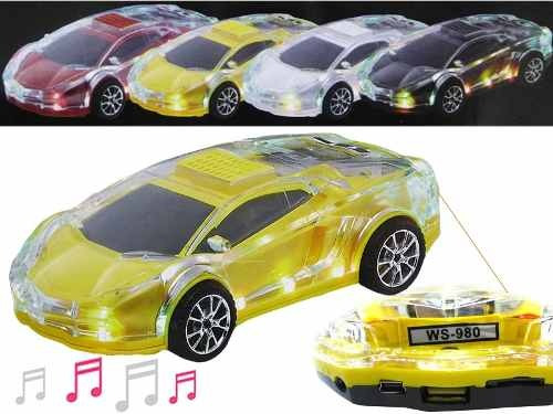 Lamborghini Carro Som Carrinho Musica Radio Mp3 Player Led