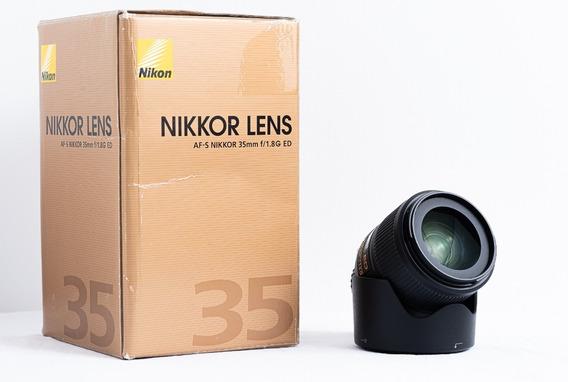Lente Nikon 35mm F/1.8 Fx G Ed (usada)
