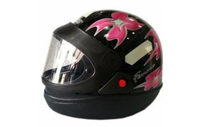 Capacete Moto San Marino Taurus Feminino Pt Tam 56