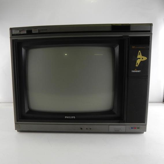 Tv Antiga Philips Trendset Vst 14 P/ Decoração C/ Defeito