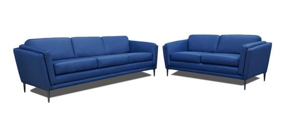 Sala De Piel - Viggo - Sofa Y Love Seat - Confortopiel