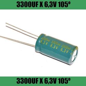 10 X Capacitor Eletrolítico 3300uf 6,3v 105º Para Placa Mae
