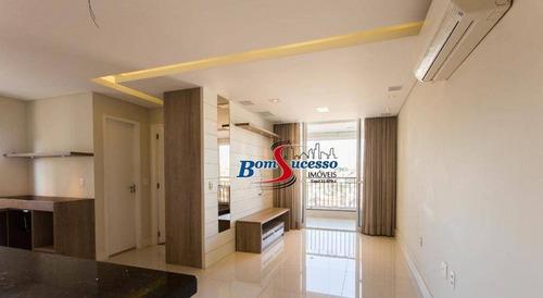 Apartamento Com 1 Dormitório À Venda, 65 M² Por R$ 599.000,00 - Jardim Anália Franco - São Paulo/sp - Ap3114