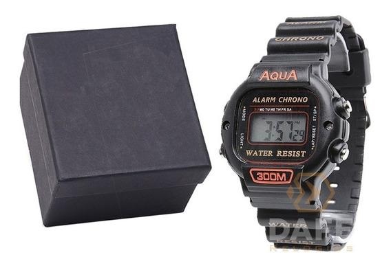 Relógio Aqua Aq-45 Masculino Digital C/ Garantia E Nf