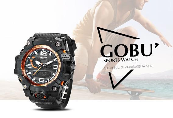 Relógio Esporte Ld Analógico Casual Masculino Wr30m Gobu