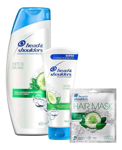 Kit Head & Shoulders Shampoo + Condicionador + Máscara+touca
