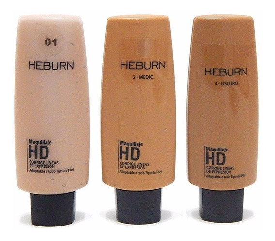 Heburn Profesional Base Maquillaje Hd 706 Todo Tipo Piel