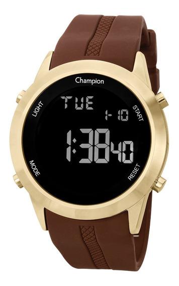 Relógio Champion Feminino Ch40259h Digital, Dourado, Alarme