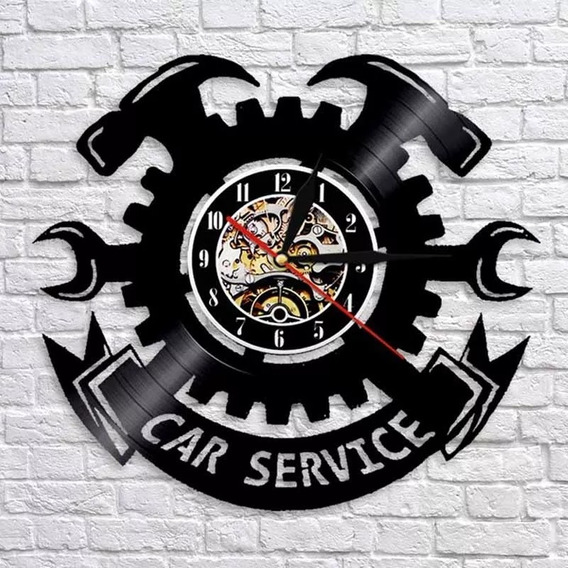 Reloj Pared Vinil Car Service