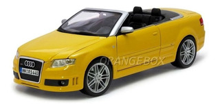 Audi Rs4 Conversível 1:18 Maisto Amarelo