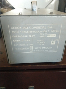 Transformador Da Xerox De 220v Para 110v **2 Kva**