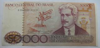 C172: Bela Cédula 50000 Cruzeiros 1984 S/fe Escassa