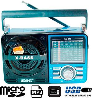 Rádio Antigo Analógico Portátil 9 Faixa Am Fm Pilha Energia