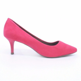 df77a91e1f Sapato De Salto Baixo Rosa Pink - Sapatos no Mercado Livre Brasil