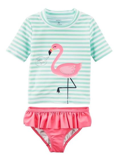 Conjunto 2 Pecas Carters Flamingo Com Protecao