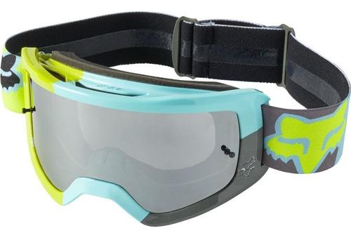 Imagen 1 de 3 de Goggles Fox Main Trice Turquesa Motocross Enduro Mtb