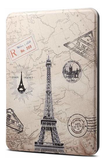 Capa Novo Kindle Paperwhite 4 Hibernação Magnético Eiffel