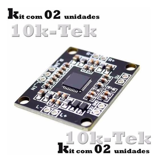 2 X Pam8610 Placa Mini Amplificador Digital De 2 X 15 W