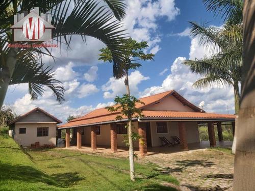 Imagem 1 de 30 de Linda Chácara Com 3 Dormitórios, Horta, Pomar, Jardim, Bem Localizada, À Venda, 2000 M² Por R$ 490.000 - Zona Rural - Pinhalzinho/sp - Ch0927