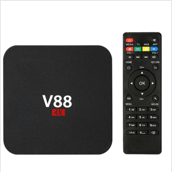 Conversor Ott Tv Box Smart V88 Com Android, 4k , 2gb/16gb