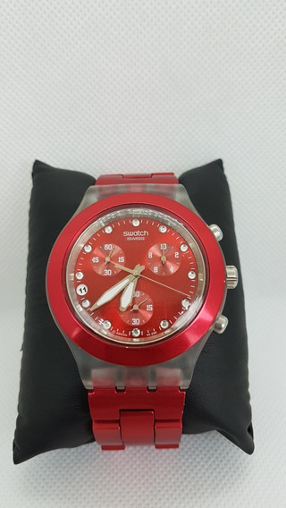Relógio Swatch Irony Diaphane Vermelho A Prova D
