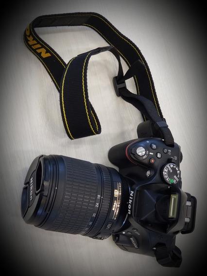 Câmera Nikon D5200 Lente 18-105mm, Case, Cartão 64gb, 2 Bat.