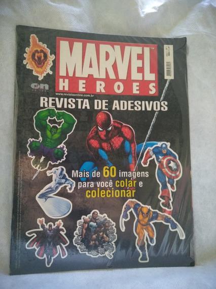 Revista De Adesivo Marvel Heroes (novo)