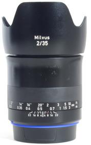 Lente Zeiss Milvus 35mm F/2 51583508 Para Canon Impecável