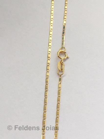 Corrente Piastrine De Ouro 18k Feminina 45 Cm 1.2 Mm Cordão De Ouro 18k Feminino