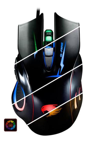 Mouse Ergonomico Preto Com 6 Botões - Para Jogo - G Fire