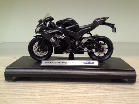 Miniatura Moto Kawasaki Ninja Zx-10rr Welly 1/18 (11 Cm)