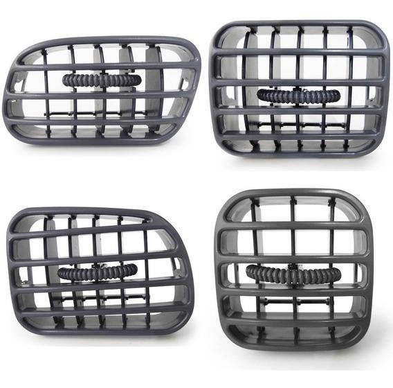 Kit Difusor Saida Ar Cinza Painel Central Lateral Blazer S10